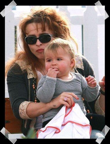 Helena Bonham and Nell burton