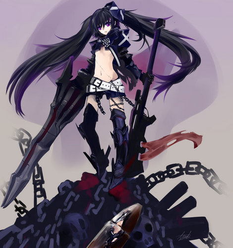 Black★Rock Shooter 壁纸 possibly with 日本动漫 entitled Insane BRS