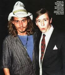 Johnny Depp wallpaper containing a business suit titled Johnny and Paul Whitehouse