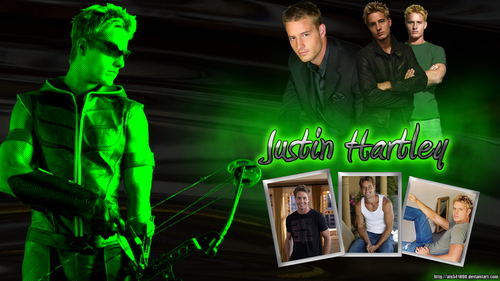 Justin Hartley - Oliver Queen - Green Arrow Smallville kertas dinding