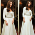 Kate Middleton's secondo Alexander McQueen wedding toga, abito