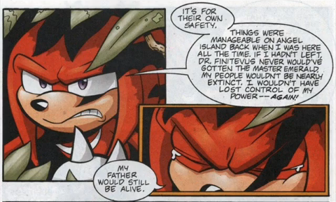 Knuckles crying