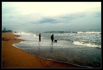 Kozhikode beach, pwani