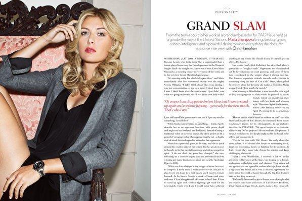 Maria Sharapova 2011 YODONA Magazine