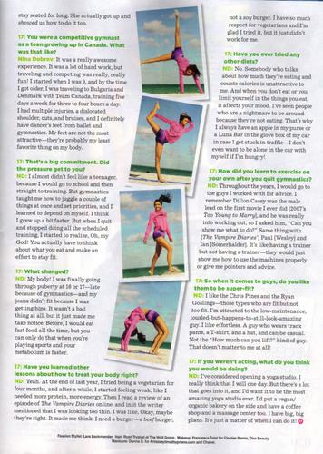 Nina Dobrev in Seventeen Fitness