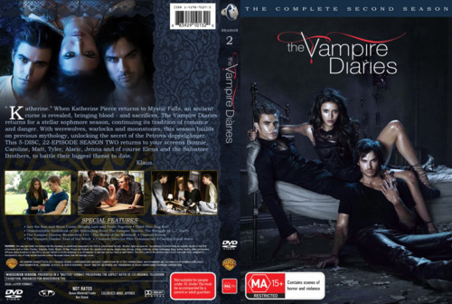 The Vampire Diaries TV Show wallpaper entitled Official cover of  Vampire Diaries Season 2 DVD
