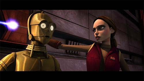 Padme Amidala and C-3PO