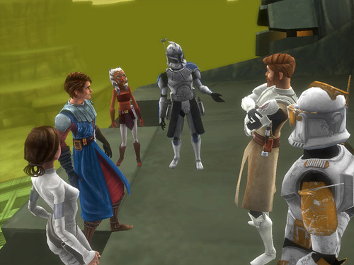 Padme in the Clone wars video game