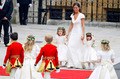 Pippa Middleton arrives with the page boys and ring bearers - prince-william-and-kate-middleton photo