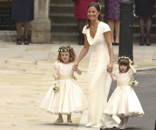 Pippa Middleton, a radiant bridemaid