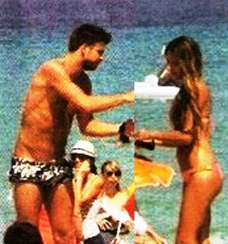 Piqué and Nuria hot body !