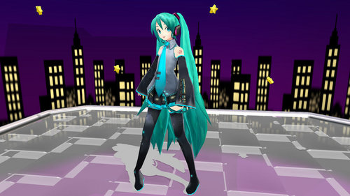 Project DIVA wallpaper possibly containing a jalan, street titled Project DIVA
