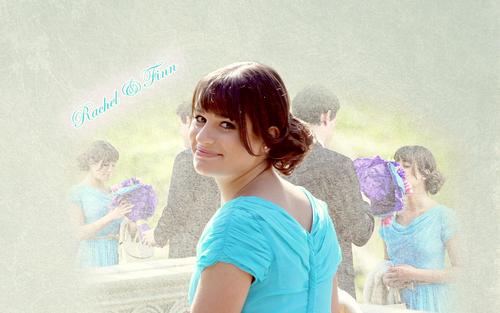 Rachel and Finn wallpaper