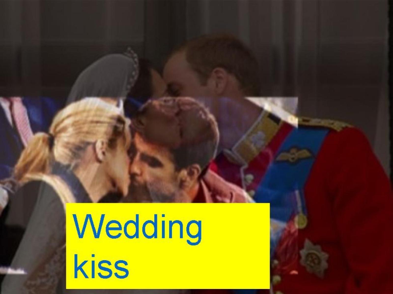 Shakira and Piqué wedding kiss