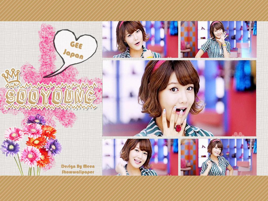 sooyoung gee japanese ver   kpop girl power wallpaper