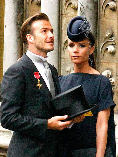 The Beckhams at the Royal Wedding