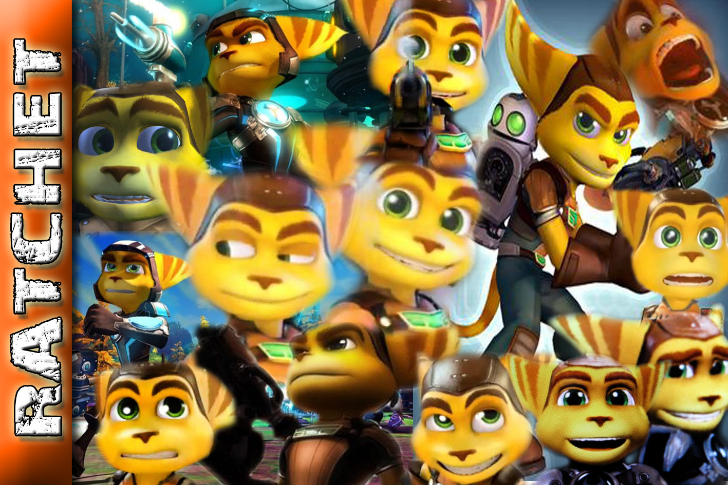 Ratchet and Clank The many faces of RATCHET!