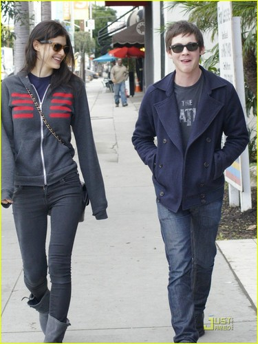 Percy Jackson And Annabeth Chase wallpaper containing a business suit and a well dressed person entitled West Hollywood Lunch- February 16, 2011