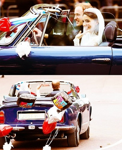 Prince William and Kate Middleton wallpaper probably containing a stock car, a ski rack, and an automobile called love