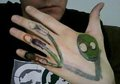 my salad fingers hand tattoo - salad-fingers screencap