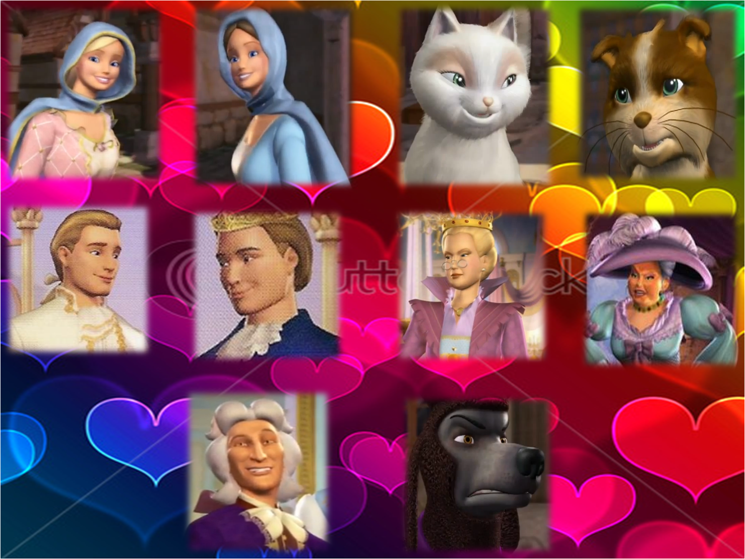 princess and the pauper characters