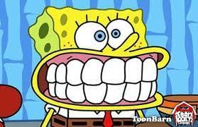 Spongebob Squarepants wallpaper containing anime entitled teeth spongebob
