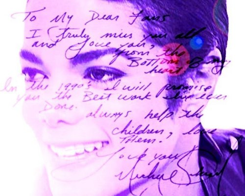 * ♥ ˚ ˚✰˚A BEAUTIFUL Letter Writen door MJ,For Us,His Fans* ♥ ˚ ˚✰˚