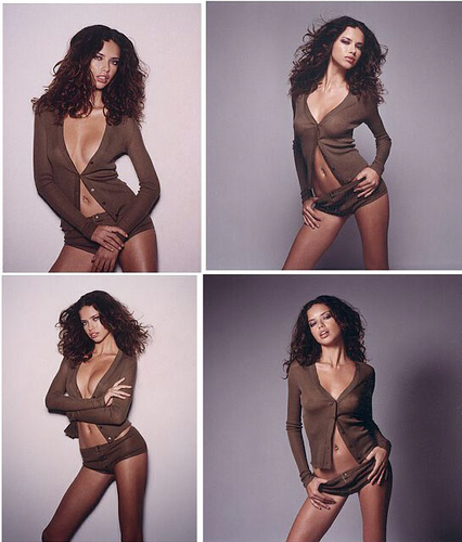 Adriana Lima wallpaper with a bustier, attractiveness, and a costume da bagno titled Adriana [GQ] 2002