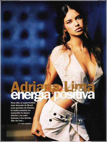 Adriana Lima wallpaper probably with a portrait called Adriana [GQ] 2002