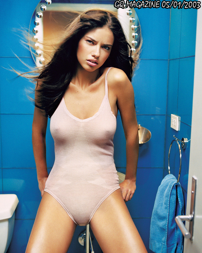 Adriana Lima پیپر وال with a maillot titled Adriana [GQ] 2003