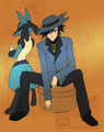 Aura Users~ Riley and Sir Aaron~ - pokemon-aura-guardians fan art