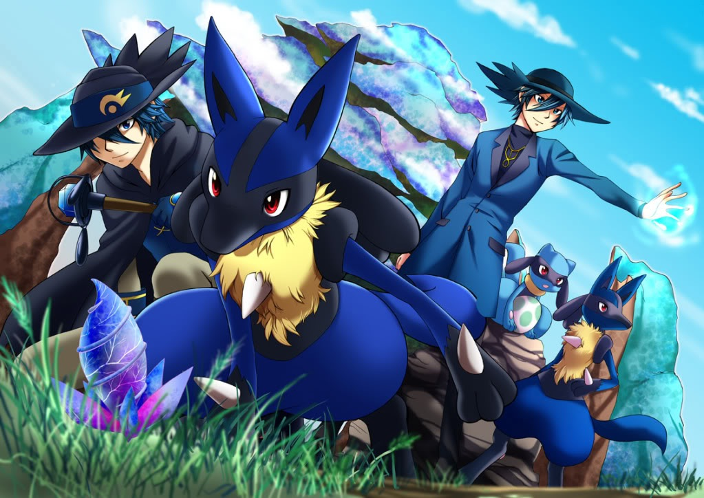 Pokemon aura guardians images aura users riley and sir aaron hd