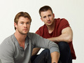 Chris Evans and Chris Hemsworth in USA Weekend