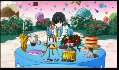 black butler wallpaper with anime entitled Ciel in wonderland