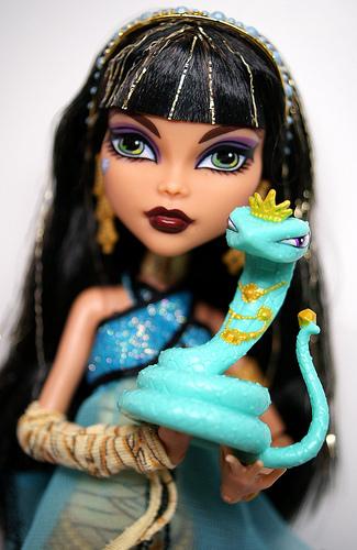 Cleo de Nile with a snake