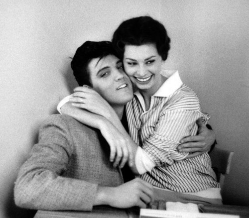 Elvis Presley wallpaper entitled Elvis And Sophia Loren