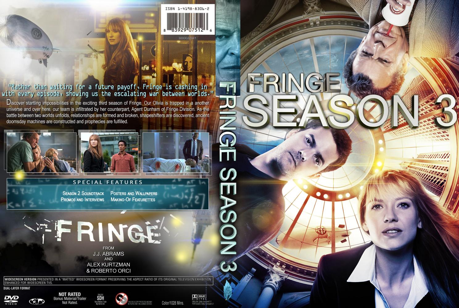 Entertainment Dvd Cover Custom Dvd Cover Fringe