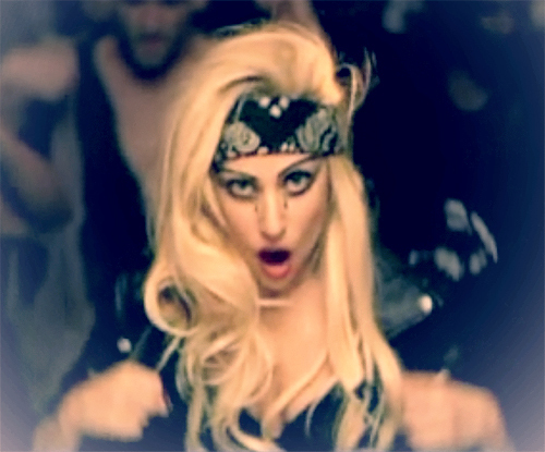 Gaga in Judas video