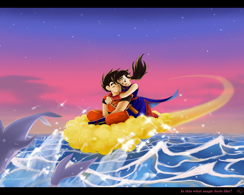 Dragon Ball Z wallpaper titled Goku and Chi-Chi