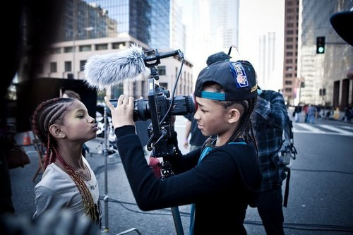 Willow Smith 壁纸 possibly containing a 街, 街道 called Jaden & Willow :)