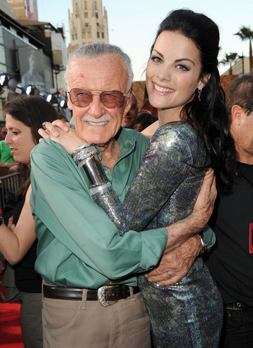"Jaimie and Stan Lee at ""Thor"" premiere"