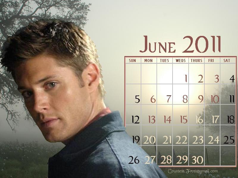 june 2011 calendar wallpaper. June 2011 - Dean (calendar)