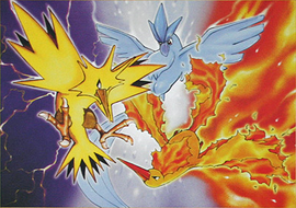 Legendary Pokemon achtergrond titled Legendary birds trio