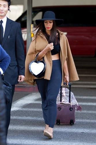 Leona Lewis at LAX