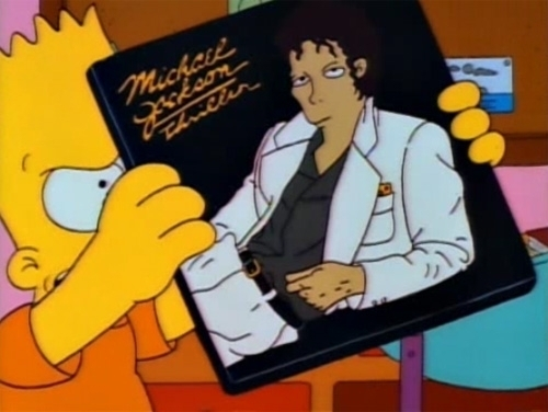 MICHAEL JACKSON THRILLER ALBUM ON THE SIMPSONS CARTOON