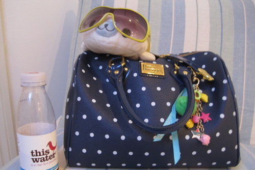 Mamegoma in my bag!