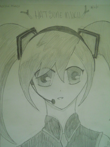 My drawing of Miku