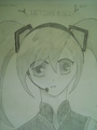 My drawing of Miku - vocaloids fan art