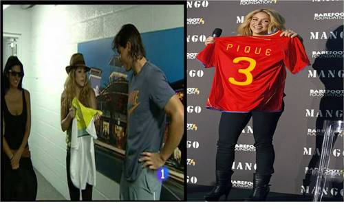 Nadal and Piqué: Shakira has at least have nothing to wear!