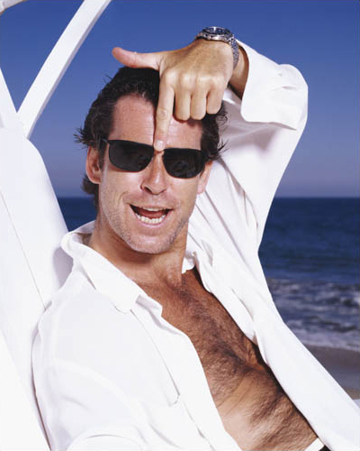 PIERCE BROSNAN CHEST.